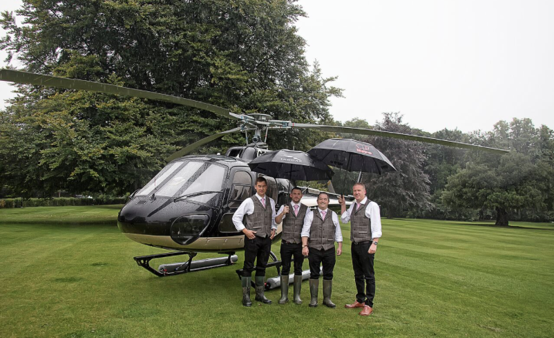 Bowcliffe Hall Wedding Helicopter
