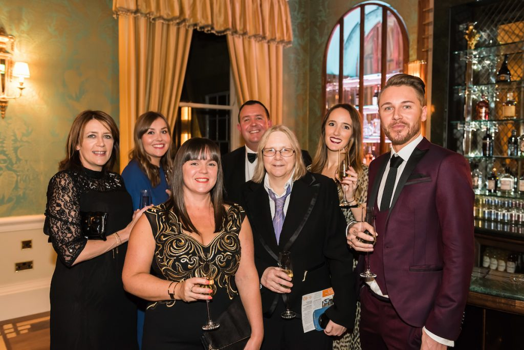 From left, ?Helen Gething, Jodhi Dixon, Tina Johnson, Andy Johnson, Jan Scott, Bethan Phillips, Danni Freek from Baird Group The Prince's Trust and Lexus Leeds 40th Anniversary Fashion Dinner - Picture date Thursday 17 November, 2016 (Bowcliffe Hall, Bramham, West Yorkshire) Photo credit should read: Jonathan Pow/jp@jonathanpow.com REF : POW_161117_200019