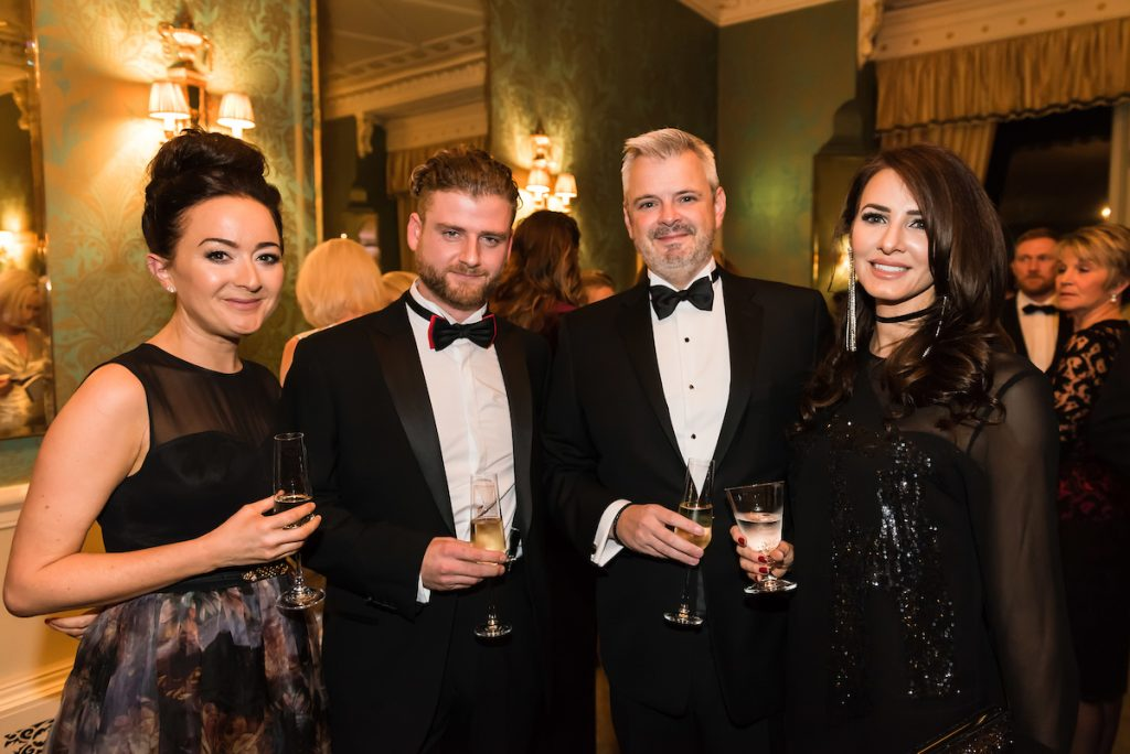 From left, ?Claire Addy, Jeff Clark, Steve Davis, Denise Davis The Prince's Trust and Lexus Leeds 40th Anniversary Fashion Dinner - Picture date Thursday 17 November, 2016 (Bowcliffe Hall, Bramham, West Yorkshire) Photo credit should read: Jonathan Pow/jp@jonathanpow.com REF : POW_161117_200628