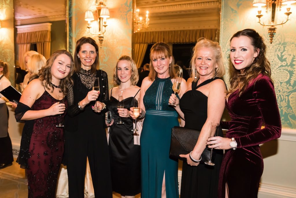 From left, ?Billie Bristow, Emma Firth, Carrie Kirkham, Jacqui Welch, Jacquie Cross, Natalie Westwood from In-Site Property The Prince's Trust and Lexus Leeds 40th Anniversary Fashion Dinner - Picture date Thursday 17 November, 2016 (Bowcliffe Hall, Bramham, West Yorkshire) Photo credit should read: Jonathan Pow/jp@jonathanpow.com REF : POW_161117_200935