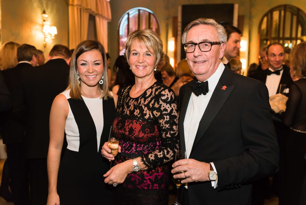 From left, ?Charlotte Rose, Nikki Rose, Paul Rose The Prince's Trust and Lexus Leeds 40th Anniversary Fashion Dinner - Picture date Thursday 17 November, 2016 (Bowcliffe Hall, Bramham, West Yorkshire) Photo credit should read: Jonathan Pow/jp@jonathanpow.com REF : POW_161117_201413