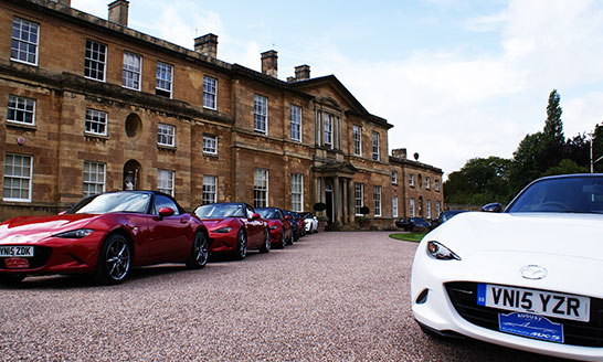 MX5 national product launch at Bowcliffe Hall