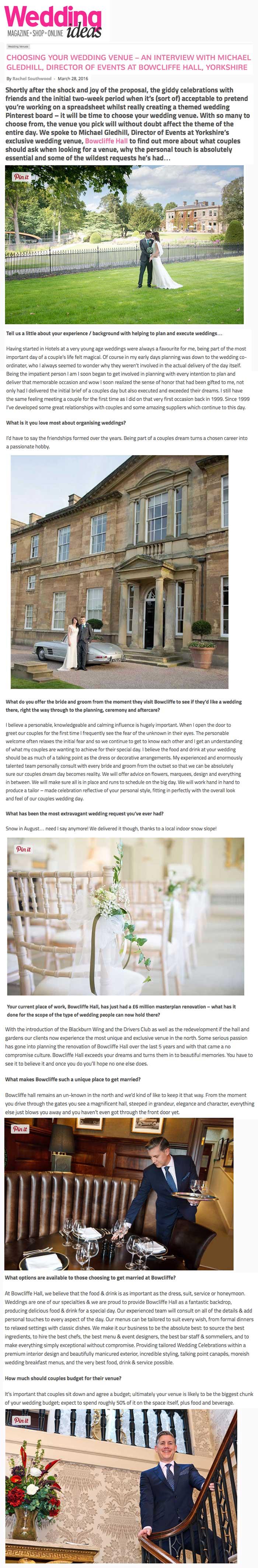 Wedding Ideas Michael Gledhill